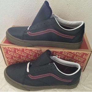 vans old skool(bleacher)black/port/gum11